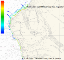 Total survey coverage along the Hualalai groundwater system.