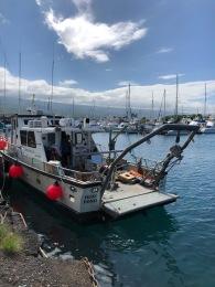 The Huki Pono marine survey boat. 'Huki Pono' means 'pull correctly'.