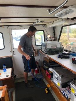Jason checking out the CSEM transmitter