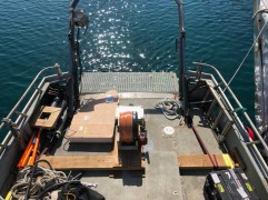 The Porpoise array winch.