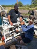 Jake & Dallas assembling one of the Porpoise receivers.