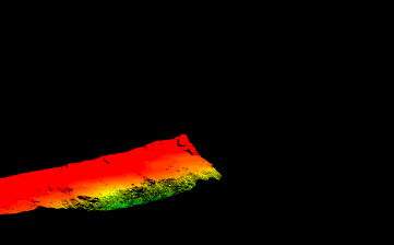 Bathymetry data from the Kiholo Bay area.