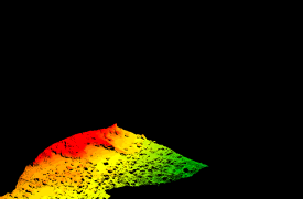 Bathymetry data from the Kailua-Kona Bay.